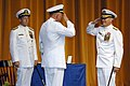 US Navy 070608-N-3642E-301 From left, Chief of Naval Operations (CNO) Adm. Mike Mullen, witnesses Vice Adm. Rodney P. Rempt relinquish command of the U.S. Naval Academy to Vice Adm. Jeffrey L. Fowler in a ceremony at the Academ.jpg