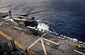 US Navy 080808-N-4774B-466 An MH-53E Sea Dragon assigned to Mine Counter-Measures Squadron (HM) 15 lands aboard the amphibious assault ship USS Tarawa (LHA 1).jpg