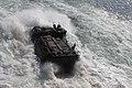 US Navy 110217-A-2554P-112 An amphibious assault vehicle launches from the amphibious dock landing ship USS Gunston Hall (LSD 44).jpg