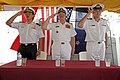 US Navy 110630-N-TY225-046 Republic of Singapore navy Rear Adm. Harris Chan, commander of Combined Task Force (CTF) 151, left.jpg