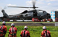 US Navy 110828-N-VE260-735 An SH-60B Sea Hawk helicopter lands at Naval Support Facility Kamiseya during the Yokohama Comprehensive Disaster Drill.jpg