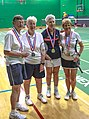 US Senior International Badminton Tourney (Miami) - WD 70 Final - Anne & Barbra def Lorna & Margo 11 & 11 (16462207048).jpg