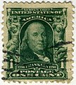 US stamp 1902 1c Franklin.jpg
