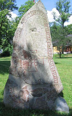 Hagby Runestones - The runestone U 153.