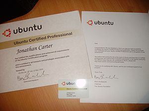 Ubuntu Professional Certification - Photo of Ubuntu Certificate.