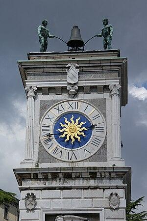 Udine - Loggia di San Giovanni, clock tower (Torre dell'Orologio)