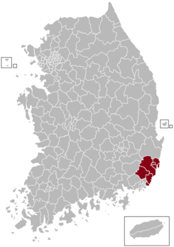 Ulsan Postal central office precinct map.png