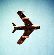 Underside view of an Egyptian aircraft