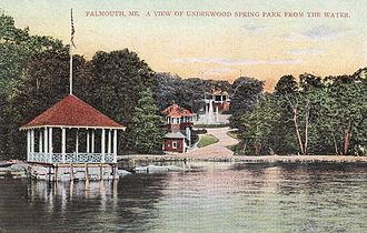 Falmouth, Maine - Underwood Spring Park in 1906