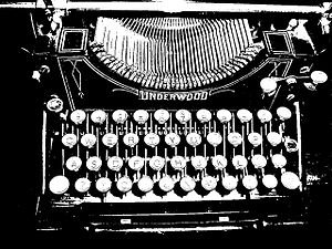 English: my typewriter