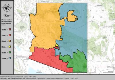 Arizona39s Congressional Districts  Wikipedia