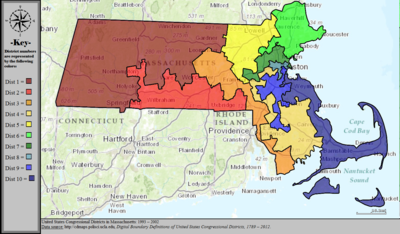 United States Congressional Districts in Massachusetts, 1993 – 2002.tif