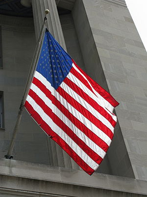 300px United States Flag RFK DOJ Building July 2010 Reflecting on Flavors of Early America this 4th of July