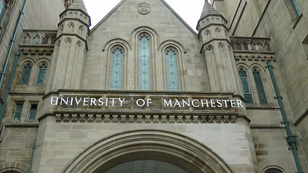 University of Manchester formerly, The Owens College (1871-1904) University of Manchester.jpg