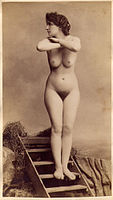 Untitled, Woman with crossed arms Albumen print, ca. 1890.jpg