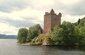 Urquhart Castle - The Grant Tower viewed from Loch Ness