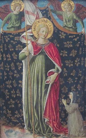 Ursulines - Saint Ursula, painted by Benozzo Gozzoli (ca. 1455–60).