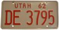 Utah 1962 License Plate.png