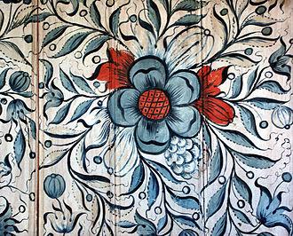 Uvdal Stave Church - Image: Uvdal Stave Rosepaint 0