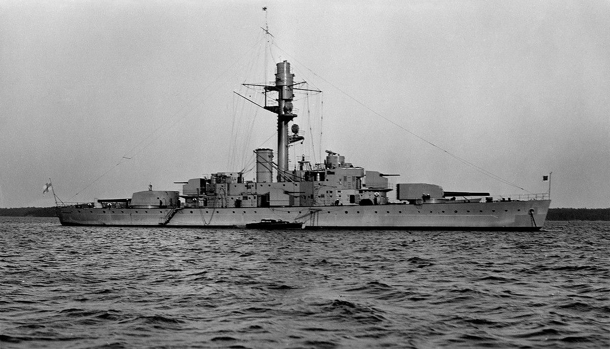 Соотношение сил по артиллерийским кораблям на Балтике после 2-й МВ