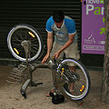 Vélib renter with puncture.jpg