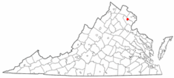 Location of West Gate, Virginia