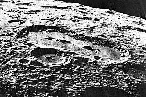 Van de Graaff (crater) - Lunar Orbiter 5 view, facing west.