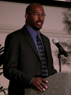 Van Jones speaking at the 2008 Dream Reborn Co...