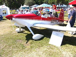Van's Aircraft RV-7 - An RV-7 on display at Sun n Fun 2004. This is the tail wheel equipped version