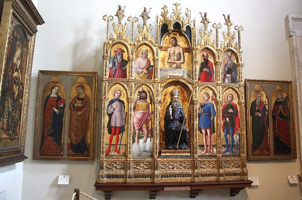 Vatikan, Pinacoteca, Altar von Antonio Vivarini.JPG