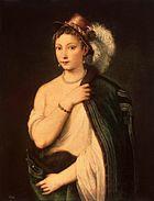 Vecelli, Tiziano - Ritratto di giovane donna - c. 1536.jpg
