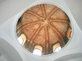 Church-Mosque of Vefa - The south dome of the exonarthex with remains of mosaics.