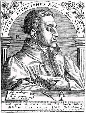 Veit Dietrich - Veit Dietrich (copper engraving, 16th century)