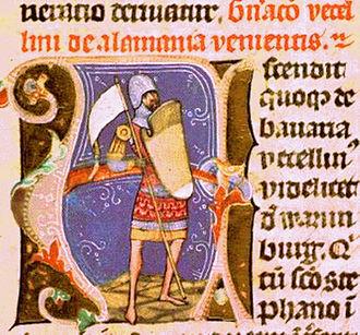 Vecelin - Vecelin, as depicted in the Illuminated Chronicle