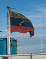 Venezuela flag in boat.jpg