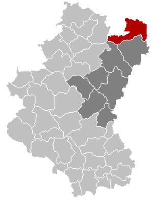 Vielsalm - Image: Vielsalm Luxembourg Belgium Map