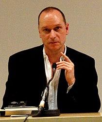 Vienna 2013-04-09 'Hauptbücherei' - Lawrence Norfolk reading from his novel 'John Saturnall's Feast' a.jpg