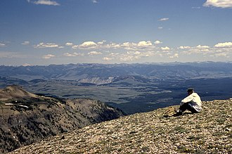Mount Holmes - Image: View From Mount Holmes YNP Looking East