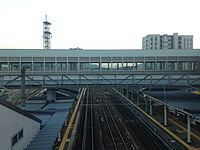 View from overpass of Haiki Station (South).JPG