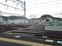 View from platform 2 of Haiki Station (East).JPG