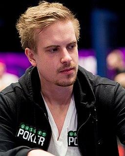 Viktor Blom at a poker event