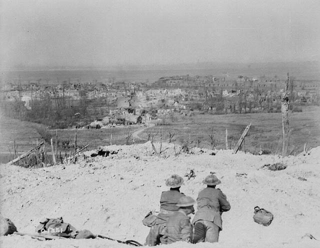 Vimy as seen from Vimy Ridge 1917-04