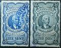 Vittorio Emanuele III - Marca da Bollo - Concessioni Governative 20 e 10 lire.jpg