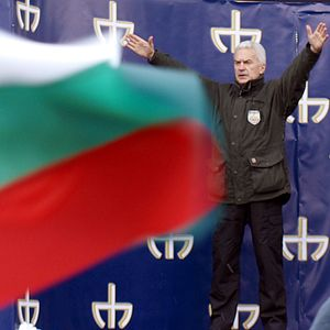 Volen Siderov - Volen Siderov: At a National Union Attack rally.
