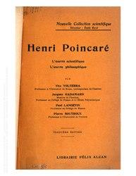 Henri Poincaré l'oeuvre scientifique, l'oeuvre philosophique