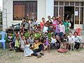 Volunteer and children in bolivia.JPG