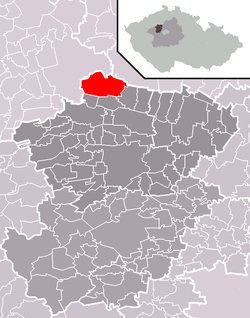 Municipal location within Kladno District