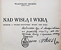 Władysław Sikorski Nad Wisłą i Wkrą - dedykacja.jpg