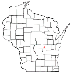 Location of Leon, Waushara County, Wisconsin