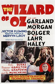 1939 movie based on the book by L. Frank Baum